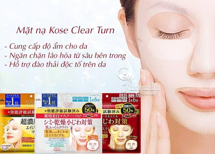 Mặt nạ Kose Clear Turn 50 miếng Nhật Bản - dưỡng da hoàn hảo 3