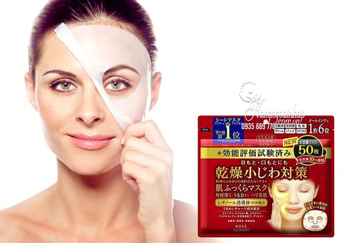 Mặt nạ Kose Clear Turn 50 miếng Nhật Bản - dưỡng da hoàn hảo 4