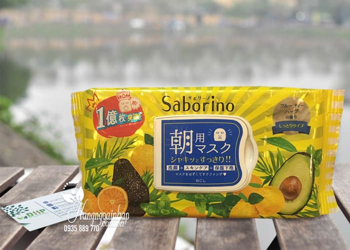Mặt nạ Saborino Morning Face Mask 32 miếng của Nhật Bản 1
