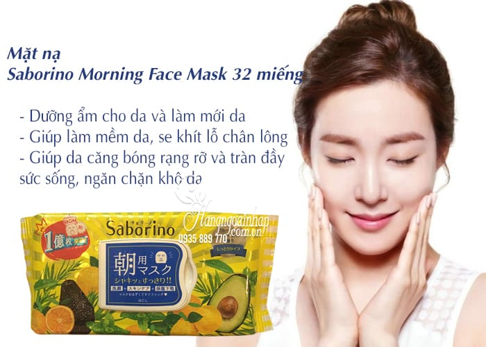 Mặt nạ Saborino Morning Face Mask 32 miếng của Nhật Bản 3