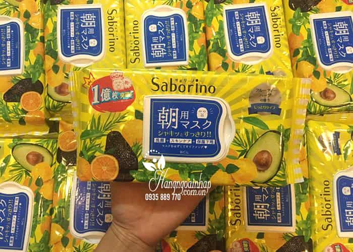 Mặt nạ Saborino Morning Face Mask 32 miếng của Nhật Bản 4