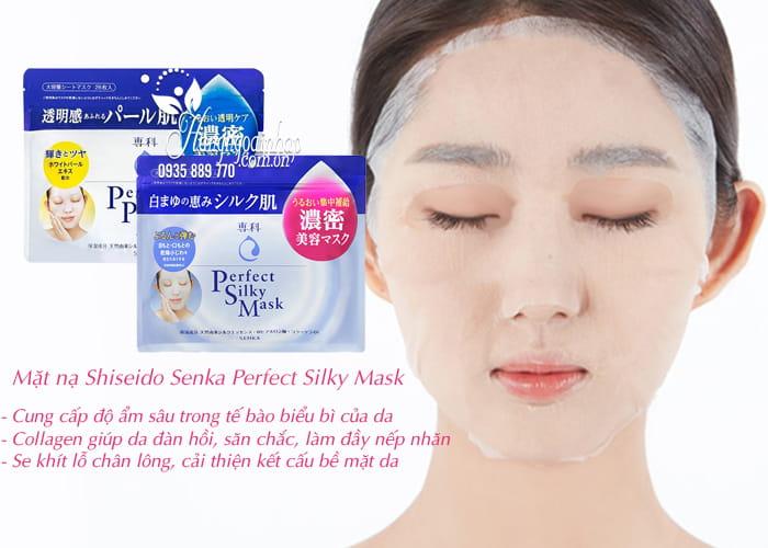 Mặt nạ Shiseido Senka Perfect Silky Mask 28 miếng Nhật Bản 3