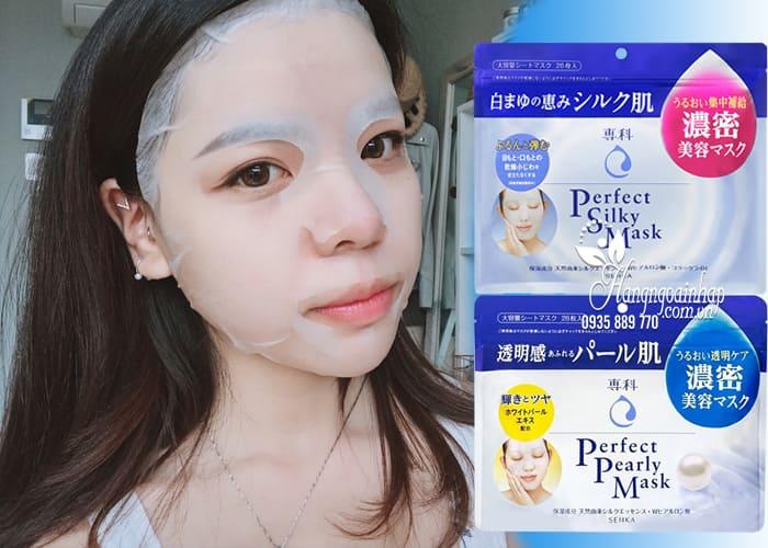 Mặt nạ Shiseido Senka Perfect Silky Mask 28 miếng Nhật Bản 2