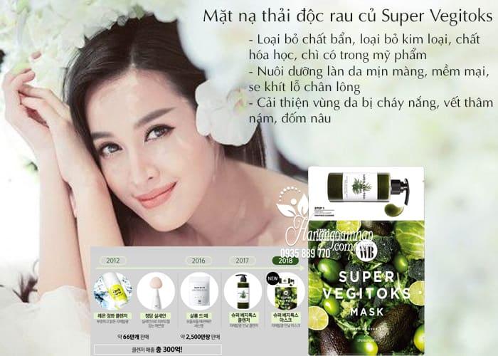 Mặt nạ thải độc rau củ Super Vegitoks Mask 6 miếng Hàn Quốc 3