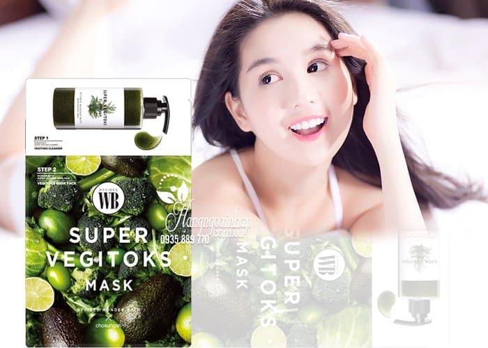 Mặt nạ thải độc rau củ Super Vegitoks Mask 6 miếng Hàn Quốc 2