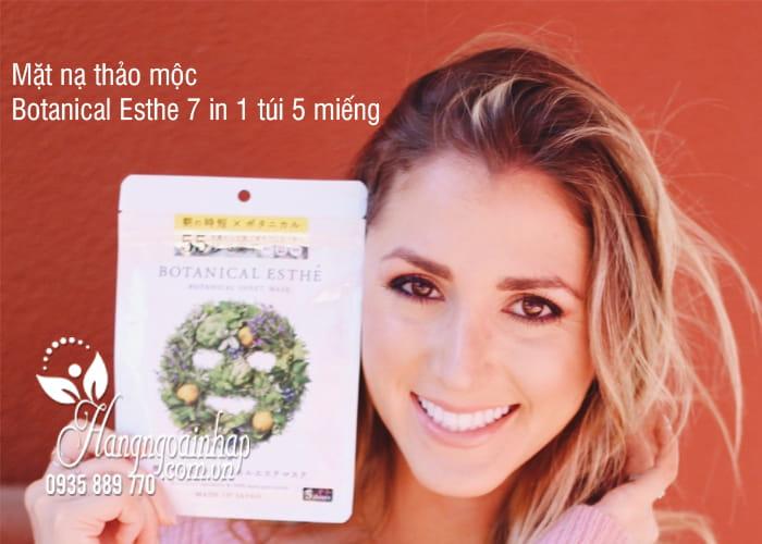 Mặt nạ thảo mộc Botanical Esthe 7 in 1 túi 5 miếng Nhật Bản 1