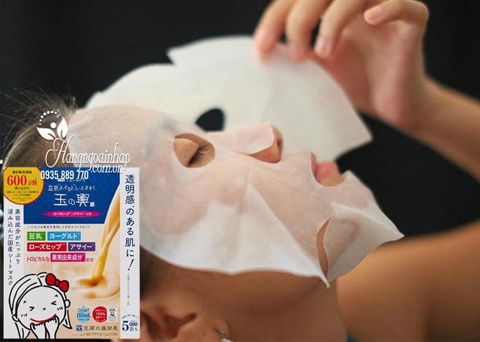 Mặt nạ Tofu Moritaya Soy Milk Yogurt Mask Sheet hộp 5 miếng 2