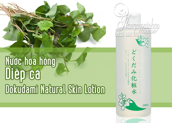 Nước hoa hồng diếp cá Dokudami Natural Skin Lotion Nhật 1
