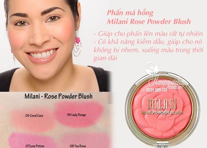 Phấn má hồng Milani Rose Powder Blush chính hãng Mỹ 5