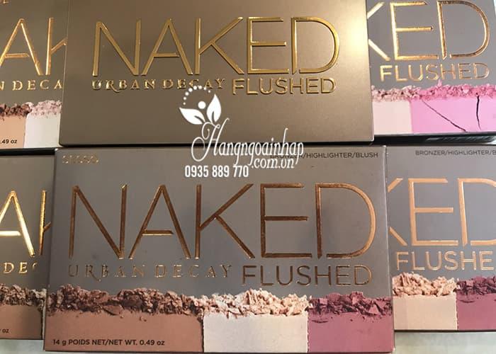 Phấn tạo khối, highlight, má hồng Naked Flushed chính hãng Mỹ 7