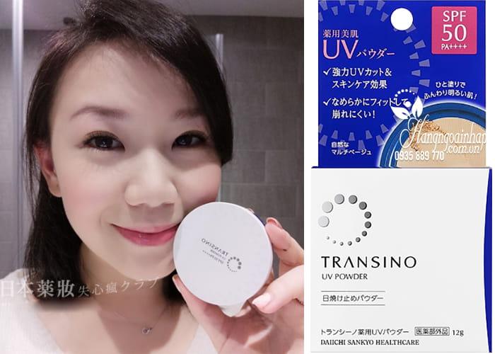 Phấn nền Transino UV Powder SPF50 PA++++ hộp 12g Nhật Bản1