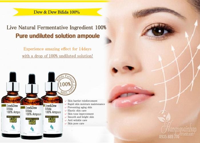 Serum dưỡng da săn chắc Dew&Dew Bifida 100% Ampoule 30ml