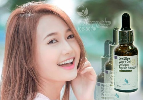 Serum trị nám Dew&Dew Luxury Cell Collagen Peptide Ampoule 30ml