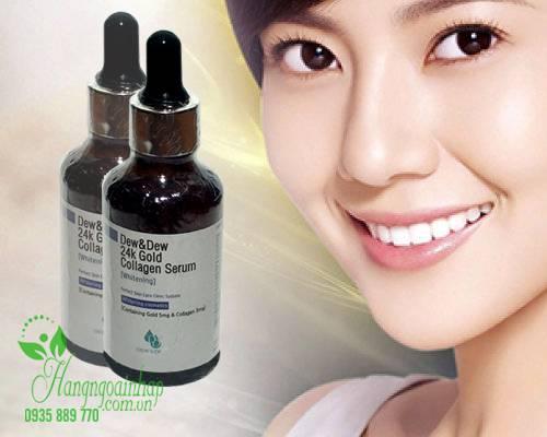 Serum dưỡng trắng da Dew & Dew 24K Gold Collagen Whitening Hàn Quốc