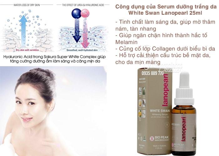 Serum dưỡng trắng da White Swan Lanopearl 25ml nhập khẩu từ Úc