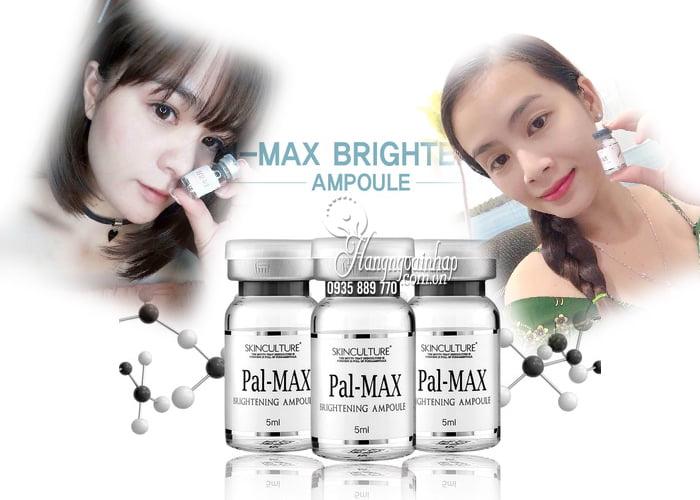 Set cấy trắng và căng bóng da Pal-Max Brightening Ampoule Hàn 3