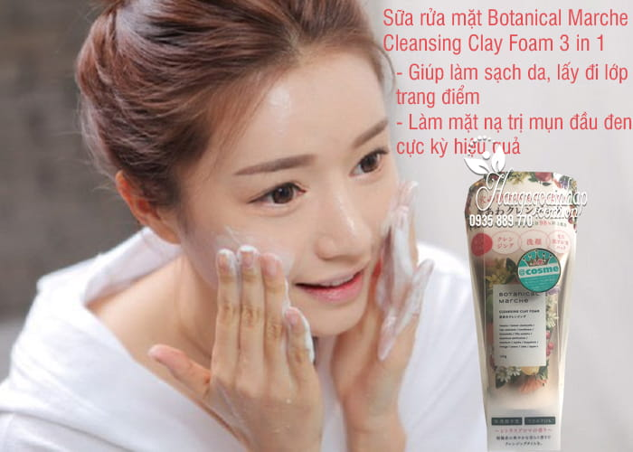 Sữa rửa mặt Botanical Marche Cleansing Clay Foam 3 in 1 4