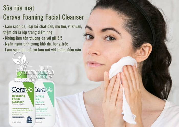 Sữa rửa mặt Cerave Foaming Facial Cleanser 355ml của Mỹ 4