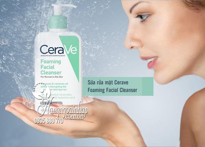 Sữa rửa mặt Cerave Foaming Facial Cleanser 355ml của Mỹ 1