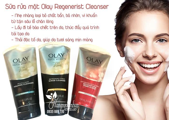 Sữa rửa mặt Olay Regenerist Cleanser 150ml của Mỹ 2