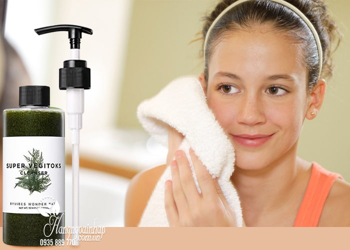 Sữa rửa mặt rau củ Super Vegitoks Cleanser thải độc da 3