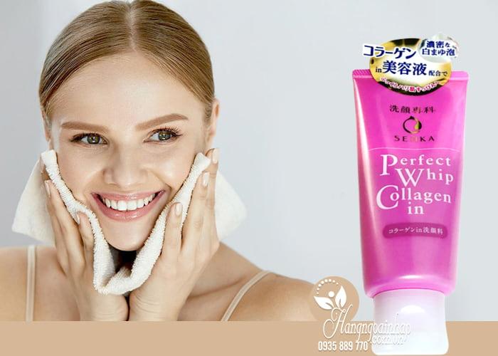 Sữa rửa mặt Shiseido Senka Perfect Whip Collagen in 120g 4