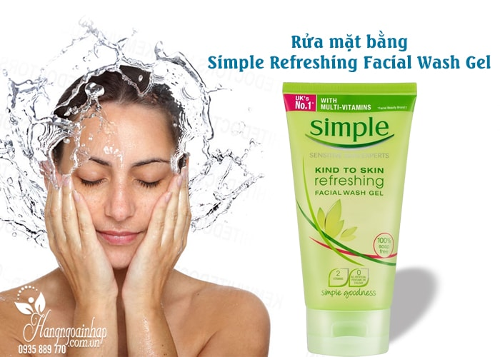 Sữa rửa mặt Simple Refreshing Facial Wash Gel 150ml