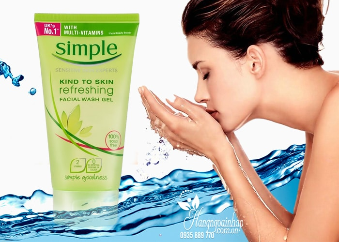 Sữa rửa mặt Simple Refreshing Facial Wash Gel