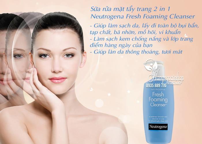Sữa rửa mặt tẩy trang 2 in 1 Neutrogena Fresh Foaming Cleanser 3