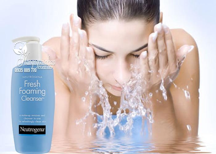 Sữa rửa mặt tẩy trang 2 in 1 Neutrogena Fresh Foaming Cleanser 2
