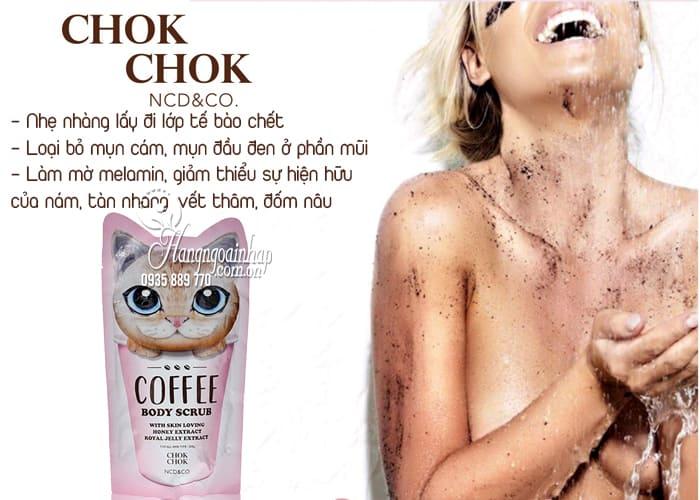 Tẩy tế bào chết toàn thân Chok Chok Coffee Body Scrub 200g 3