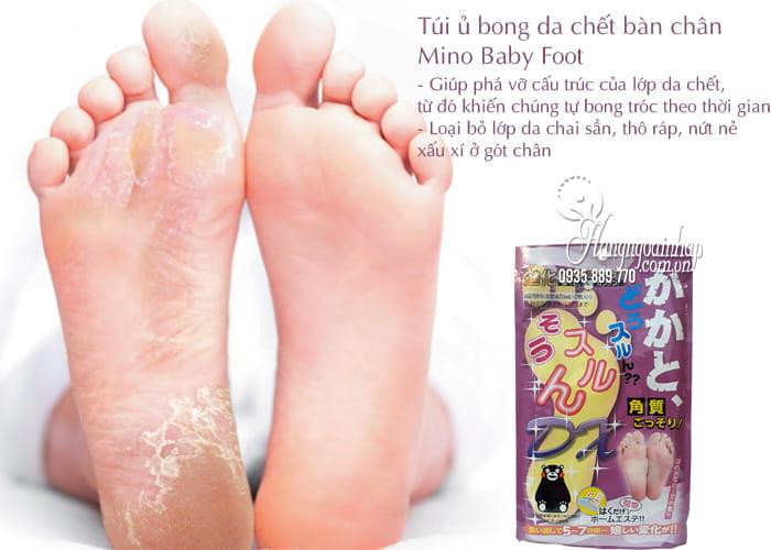 Túi ủ bong da chết bàn chân Mino Baby Foot Nhật Bản 2