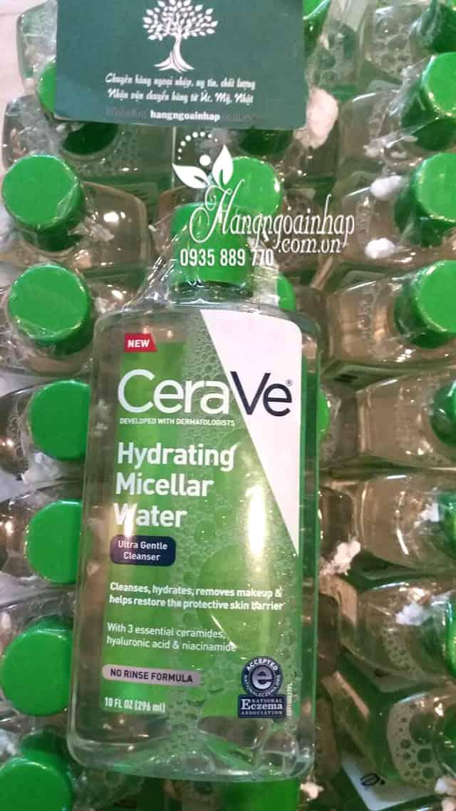 Nước tẩy trang Cerave Hydrating Micellar Water 296ml của Mỹ 6