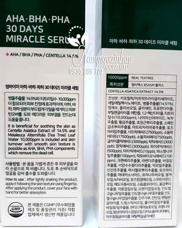 Serum trị mụn Some By Mi AHA-BHA-PHA 30 Days Miracle 50ml 4