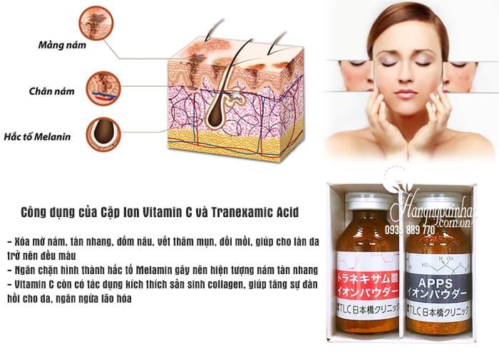 Cặp Ion Vitamin C và Tranexamic Acid trị nám dưỡng trắng da 2