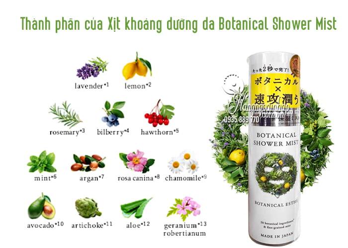 Xịt khoáng dưỡng da Botanical Shower Mist 160g của Nhật Bản 2