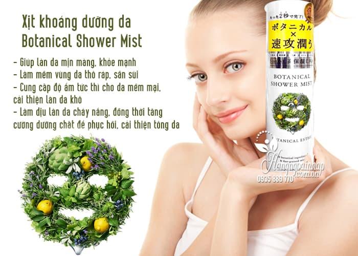 Xịt khoáng dưỡng da Botanical Shower Mist 160g của Nhật Bản 3