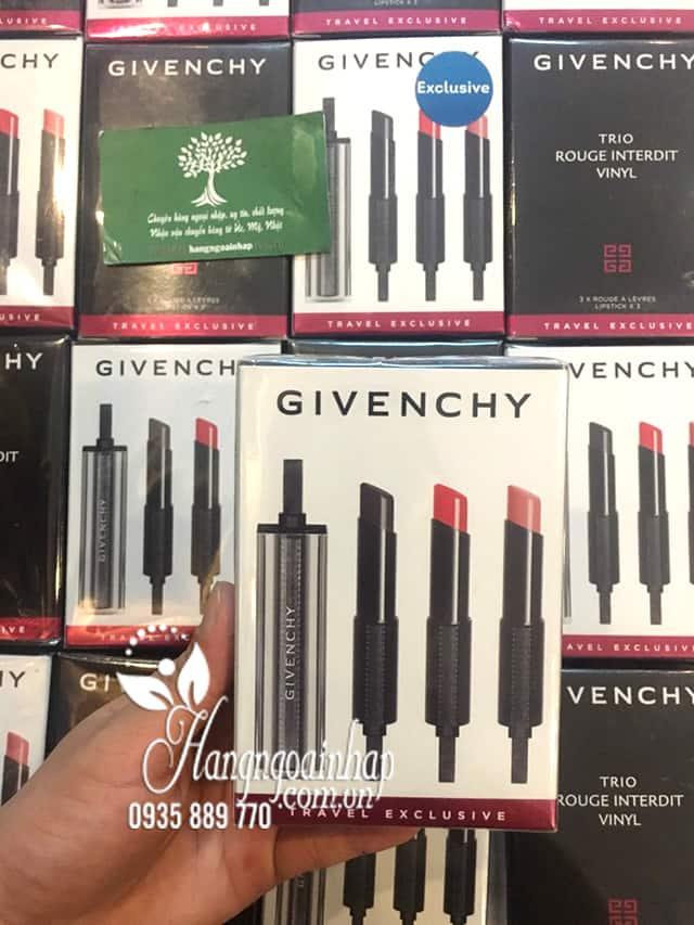 Son môi Givenchy Trio Rouge Interdit Vinyl của Pháp 1