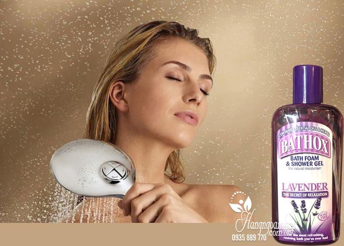 Sữa tắm Bathox Lavender 500ml mùi hoa oải hương của Úc 4