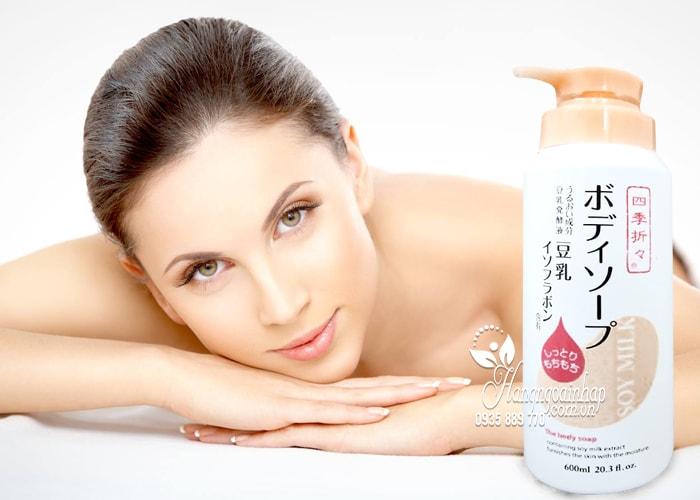 Sữa tắm dưỡng ẩm sữa đậu nành Soy Milk The Body Soap 600ml 4