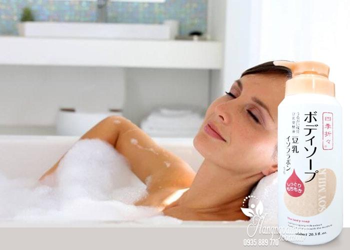 Sữa tắm dưỡng ẩm sữa đậu nành Soy Milk The Body Soap 600ml 2