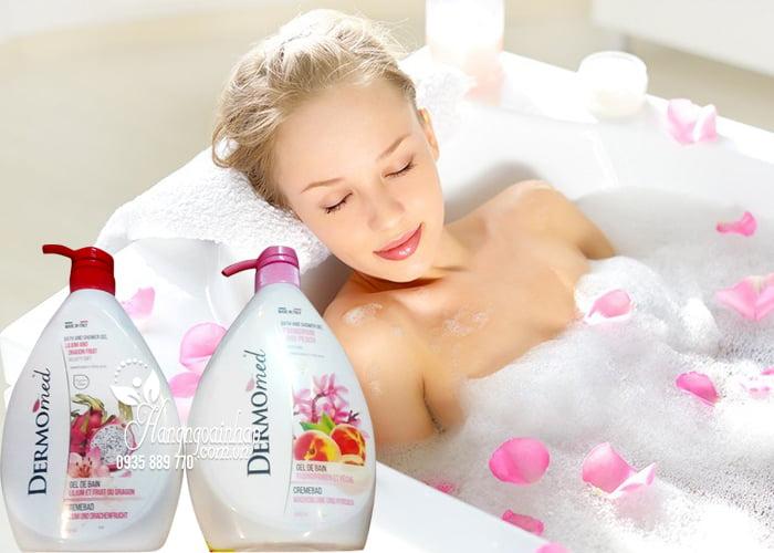 Sữa tắm dưỡng da Dermomed Bath & Shower Gel 1000ml của Ý 2