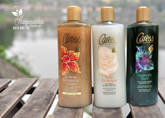 Sữa tắm dưỡng da hương nước hoa Caress 532ml của Mỹ