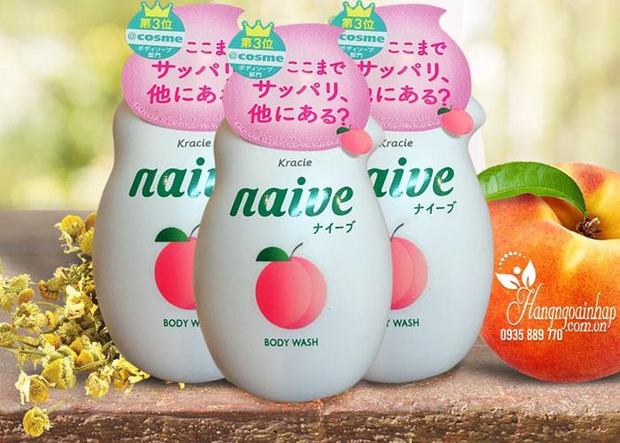 Sữa tắm Kracie Naive Body Wash 530ml của Nhật Bản