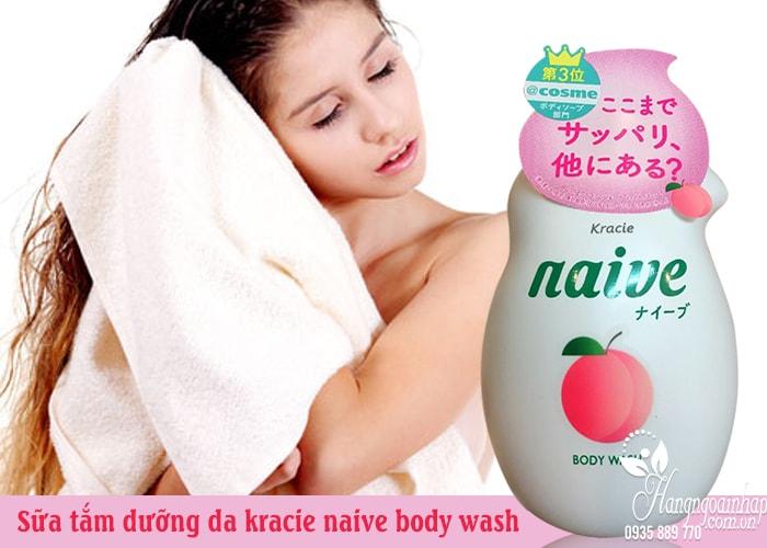 Sữa tắm Kracie Naive Body Wash 530ml của Nhật