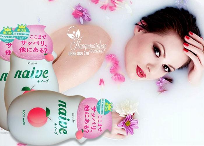 Sữa tắm Kracie Naive Body Wash 530ml Nhật Bản