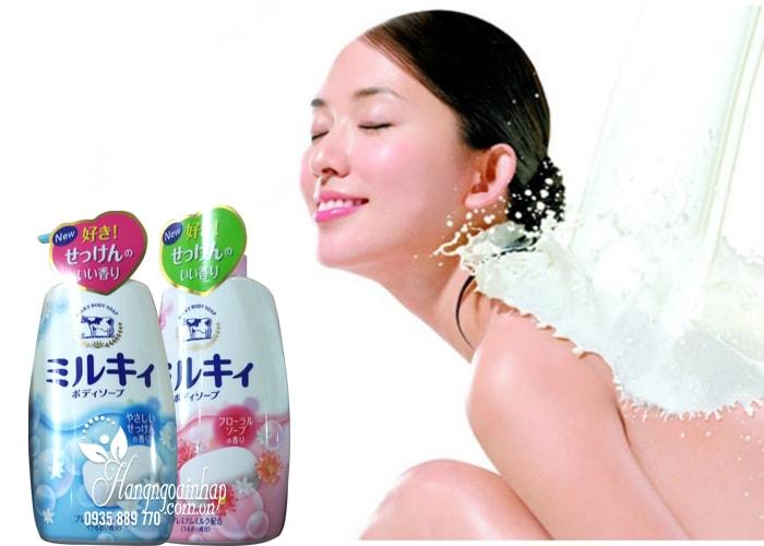 Sữa tắm Milky Body Soap, sữa tắm bò Nhật Bản 580ml mẫu mới 2