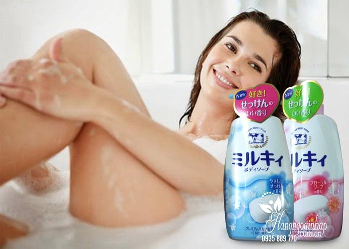 Sữa tắm Milky Body Soap, sữa tắm bò Nhật Bản 580ml mẫu mới 4