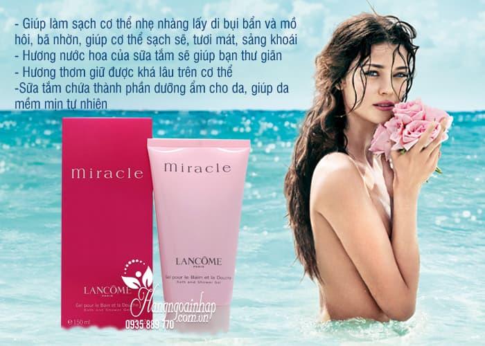 Sữa tắm hương nước hoa Lancome Miracle Bath and Shower Gel 150ml  3
