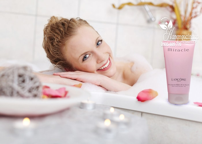 Sữa tắm hương nước hoa Lancome Miracle Bath and Shower Gel 150ml  2